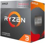 Процессор AM4 AMD RYZEN 3 3200G 3.6ГГц, 4*256KB+4MB, Picasso 0.012мкм, Quad ...
